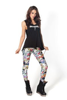 Insane Graffiti Leggings › Black Milk Clothing