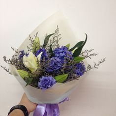 Rustic hyacinthus and lily.... Blue color bouquet.... Find at Insta @maghavanto