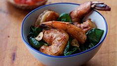 Shrimp with Spinach, Garlic and Smoked Paprika