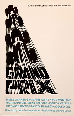 Grand Prix poster by Saul Bass