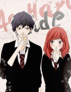 Tanaka Kou and Futaba Yoshioka in Ao haru ride Otaku, Anime Love, Futaba Y Kou, Futaba Yoshioka, Ao Haru Ride Kou, Manga Anime, Image Couple, Best Romance Anime, Blue Springs Ride