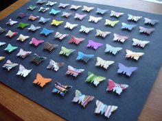 Awesome - display children's butterflies.  Will need to be modified as each student will make uniquely shaped/sized butterfly.