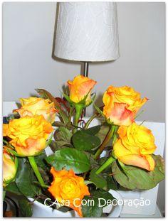 rosa amarelas