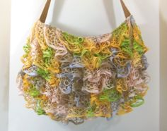 diy learn to crochet ruffle yarn purse sashay starbella shoulder bag ruffled crochet starbella yarn april by sallysmiles 3000 dt1010fo