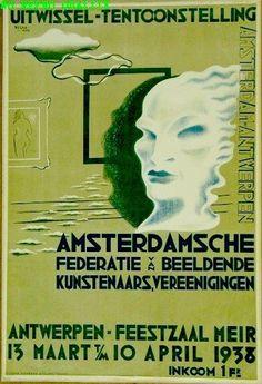 Uitwissel-tentoonstelling Amsterdamsche federatie van beeldende kunstenaars, vereenigingen - by Wim Bosma -at Stedelijk Museum Amsterdam