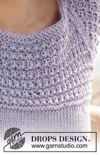 Knitted DROPS top with raglan and pattern in Knitting Stitches, Knitting Patterns Free, Free Knitting, Free Pattern, Drops Design, Magazine Drops, Raglan, Pulls, Knit Crochet