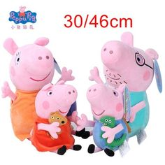 Original Peppa Pig George Animal Stuffed Plush Toys Family Pink Pepa Pig Bear Dolls Christma Gifts Toy For Girl Children-in Movies & TV from Toys & Hobbies Peppa Pig, Toys For Girls, Kids Toys, Pet Pigs, Family Set, Bear Doll, Dog Walking, Christmas Gifts, Xmas