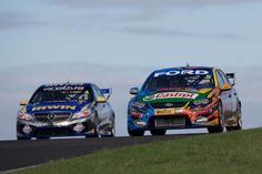 FPR Falcon side by side with the AMG Mercedes V8 Supercar of Lee Holdsworth.