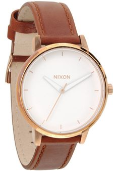 Nixon Kensington-Leather-rosegold Uhr
