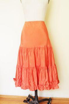 Vintage 1940s Orange Crinoline