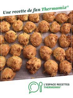 Gougères à la courgette par Dom-Soph. Une recette de fan à retrouver dans la catégorie Entrées sur www.espace-recettes.fr, de Thermomix®.