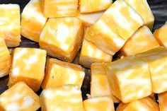 Cheese Cubes.... Best with Olives and a glass of Champagne!