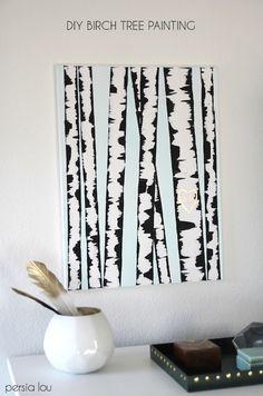 GENIUS: Deceptively Simple DIY Birch Tree Art » Curbly | DIY Design & Decor