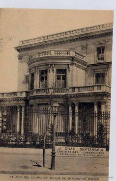 MADRID.- PALACIO DEL EXCMO SR. DUQUE DE SOTOMAYOR (Postales - España - Comunidad de Madrid Antigua (hasta 1939) - Madrid Capital)