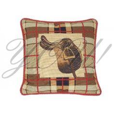 Saddle Needlepoint Throw Pillow at YOU! Boutiques #youboutiques #needlepoint #pillow #horse #equestrian