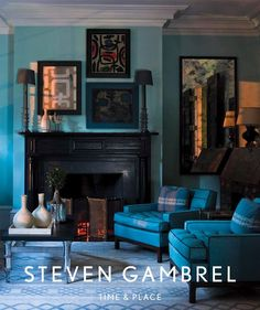 Steven Gambrel. Includes examples of John Nalewaja's wallpaper installations. See more of his work at: www.scenicwallpaper.com.