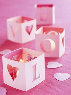 Valentine's Day #DIY: Love Letter #Votives by @Better Homes and Gardens