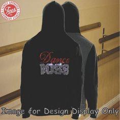"""""""Dance Boss"""" Rhinestone Hoodie"""