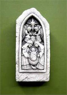 Hand Cast, It Cast, Concrete Sculpture, Dove Men, Peace Dove, Holy Family, Collectible Figurines, Holi, Nativity