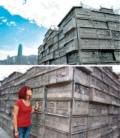 Sculpture of Kowloon Walled City by G. Kowloon Walled City, N Scale, China Travel, Weird World, Travelogue, Hong Kong, Asia, Louvre, Strange Things