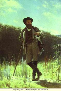 Ivan Kramskoy. Portrait of the Artist Ivan Shishkin. Olga's Gallery.