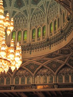 Grand Mosque in Muscat, Oman. http://www.kurbantravel.com/package/356/Muscat-Oman%20Adha#.UlUSj1AbBrc