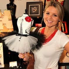 🎀🎀🎀 ENews and The Bachelorette's Ali Fedotowsky with our Tiny Tuxedo Tutu at the GBK Productions Oscars Celebrity Gift Lounge In Hollywood with The Artisan Group
