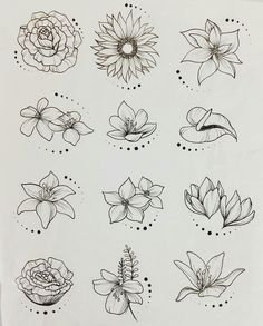 44 Ideas flowers drawing tattoo sketches inspiration for 2019 drawing tattoo flowers is part of Flower sketches - Tattoo Sketches, Tattoo Drawings, Body Art Tattoos, Drawing Sketches, Art Drawings, Drawing Art, Drawing Ideas, Drawing Tutorials, Pencil Drawings