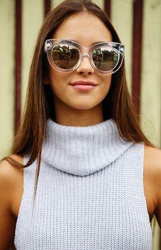 Quay Eyeware x Shay Mitchell - Jinx Sunglasses - Clear | Accessories | Peppermayo