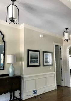 Sherwin Williams Woolskein, with Westhighland White, RH Seafoam ceiling. Kylie M INteriors E-design. Client photo before Indoor Paint Colors, Beige Paint Colors, Bedroom Paint Colors, Interior Paint Colors, Paint Colors For Living Room, Paint Colors For Home, Room Colors, Neutral Paint, Interior Design