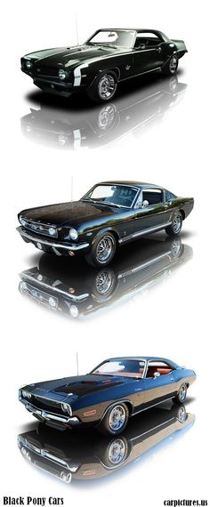 Pony car is an American class of automobile launched and inspired by the Ford Mustang in 1964. The term describes an affordable, compact, highly styled car with a sporty or performance-oriented image. (Souce, more info: Wikipedia), image credit: Rk Motors.