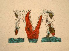 Um alfabeto ilustrado que é composto de Monstros Marinhos Fantásticos.  http://sergiozeiger.tumblr.com/post/89104992273/um-alfabeto-ilustrado-que-e-composto-de-monstros