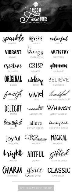 Free Commercial Use Fonts