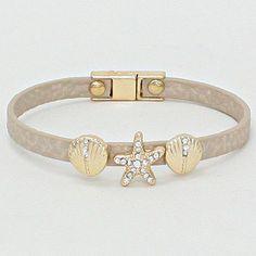 Crystal Shell Bracelet in Soft Ivory