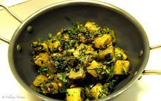 Spinach-radish fry (Palak aur muli ki sabji)! One of my favorite sides. :)