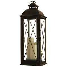 Statuesque and elegant, this LED candle lantern brings charming appeal to your patio or sunroom.Product: Candle lantern
