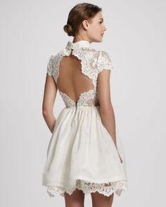 Alice + Olivia Fyona Lace-Bodice Party Dress - Neiman Marcus
