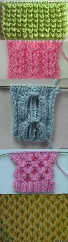 Любимые узоры для вязания........+ ВИДЕО -уроки.