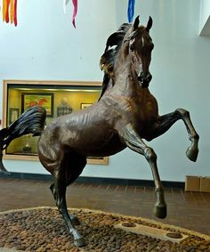 The Arabian stallion Bask by Bogucki at The International Museum of the Horse at Kentucky Horse Park