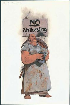 No Spellcasting from the D&D 3rd Edition Dungeon Master's Guide (Kev Walker)
