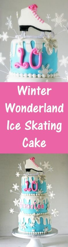 Winter Wonderland Ice Skating Cake | RoseBakes.com