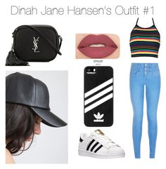 """""""D. Jane Hansen Outfit"""" by arianagrande1962 on Polyvore featuring New Look, adidas, Yves Saint Laurent and Smashbox"""