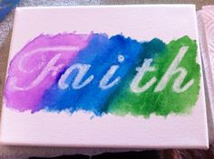 White crayon and water colors! #crafts #DIY