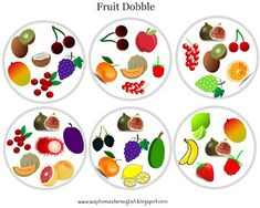 fruit dobble duble owoce food vocabulary games school classroom