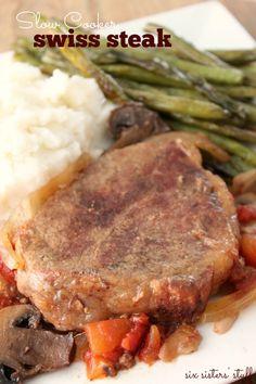 Slow Cooker Swiss Steak Recipe | SixSistersStuff.com