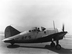 Brewster F2A-2 Buffalo BuNo 1410 '2-F-5' of VF-2 -