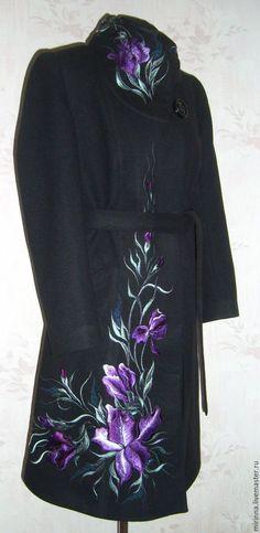 """Верхняя одежда ручной работы. Ярмарка Мастеров - ручная работа. Купить Пальто """"ИРИС"""". Handmade. Черный, верхняя одежда, handmade"""