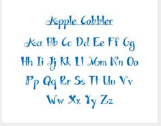 Apple Cobbler Font