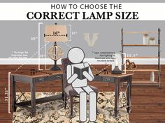 How big should a lamp be? Learn how to choose the correct lamp size for each room of your house. See sizes of lamps, scale of lamps, and the best lamp size.