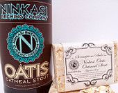 Ninkasi OTIS, Oatmeal Stout Glycerin Soap! A rich full bodied, yet smooth fragrance that blends a creamy oatmeal base note with light notes of nutty almond, vanilla, caramel malt, and Cascade and Mt. Hood hops. Hand milled oatmeal, caramel barley, Cascade and Mt. Hood hops gently exfoliates to sooth and nourish the skin! The glycerin base is a mild and gentle VEGAN soap without any harsh ingredients. Handmade in Portland, Oregon and Park City, UT.